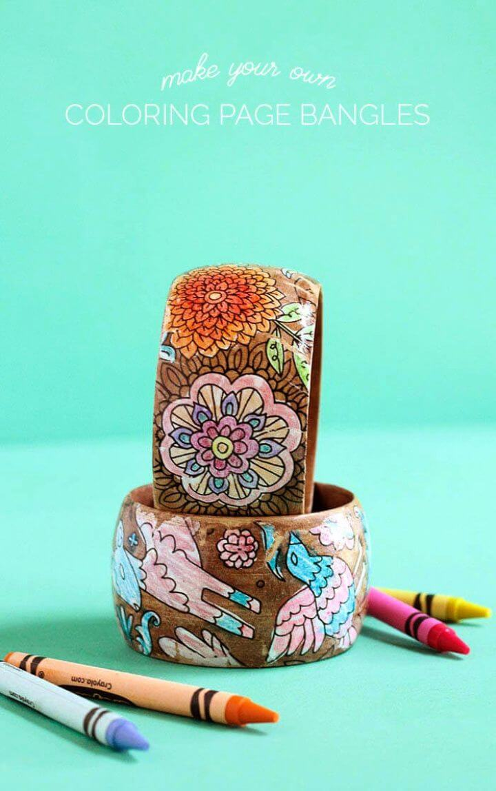 Create A Mother's Day Bracelets Using Coloring Pages