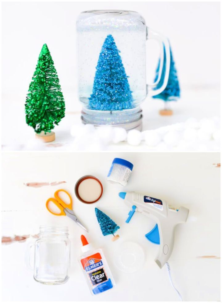 Create Your Own Glittery Mason Jar Snow Globe