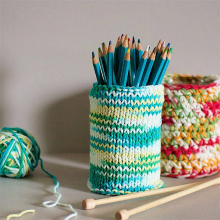 Crochet Pencil Holder Cozy