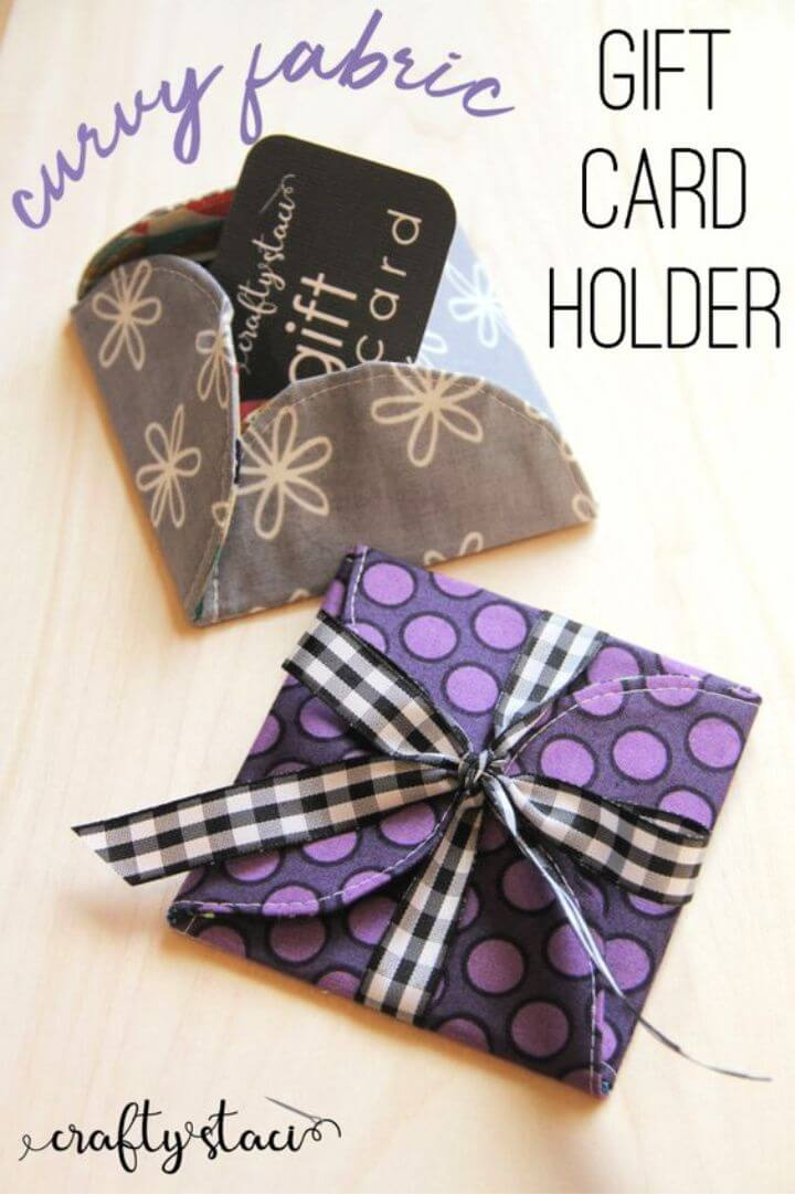 Curvy Fabric Gift Card Holder