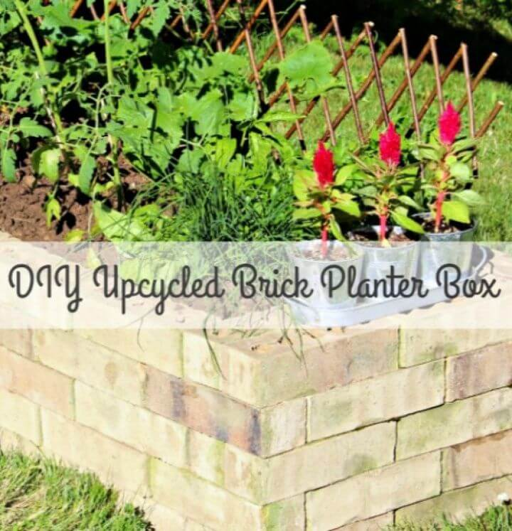 Cute DIY Upcycled Brick Planter Box
