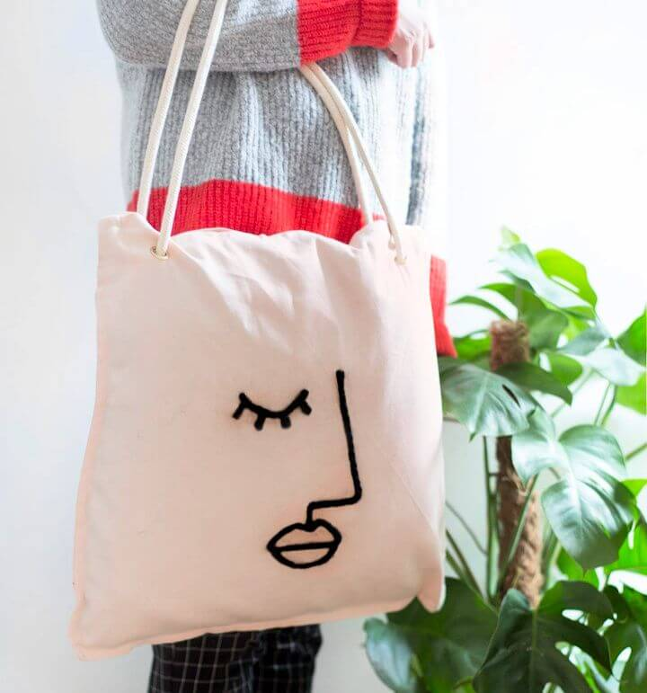 DIY Abstract Bag It Up Tote Bag