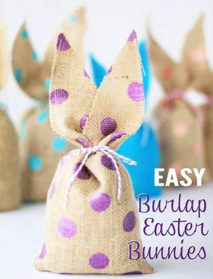 DIY Burlap Easter Bunny Bags