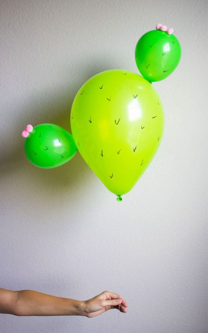 DIY Cactus Balloons Idea