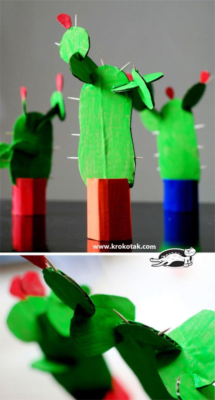 DIY Cardboard Cactus