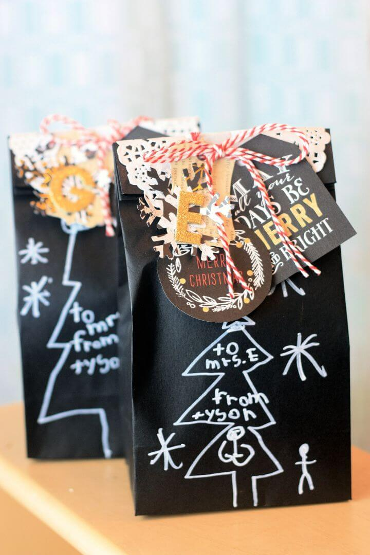 DIY Christmas Gift Bags for Teacher