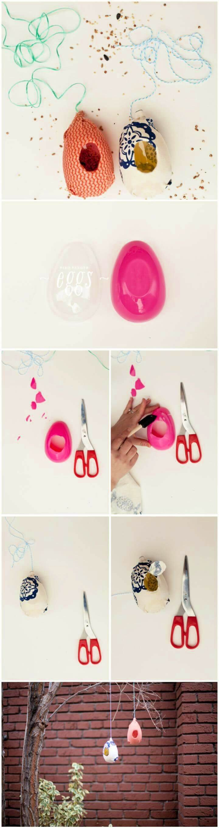 DIY Creative Plastic Egg Bird Feeder