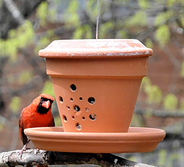 DIY Cute Terra Cotta Bird Feeder