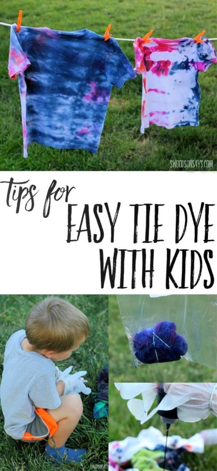 DIY Easy Tie Dye With Kids