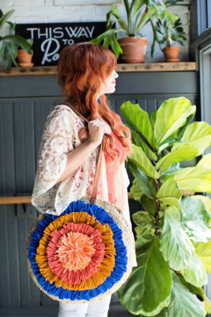 DIY Fabric Tassel Tote Bag