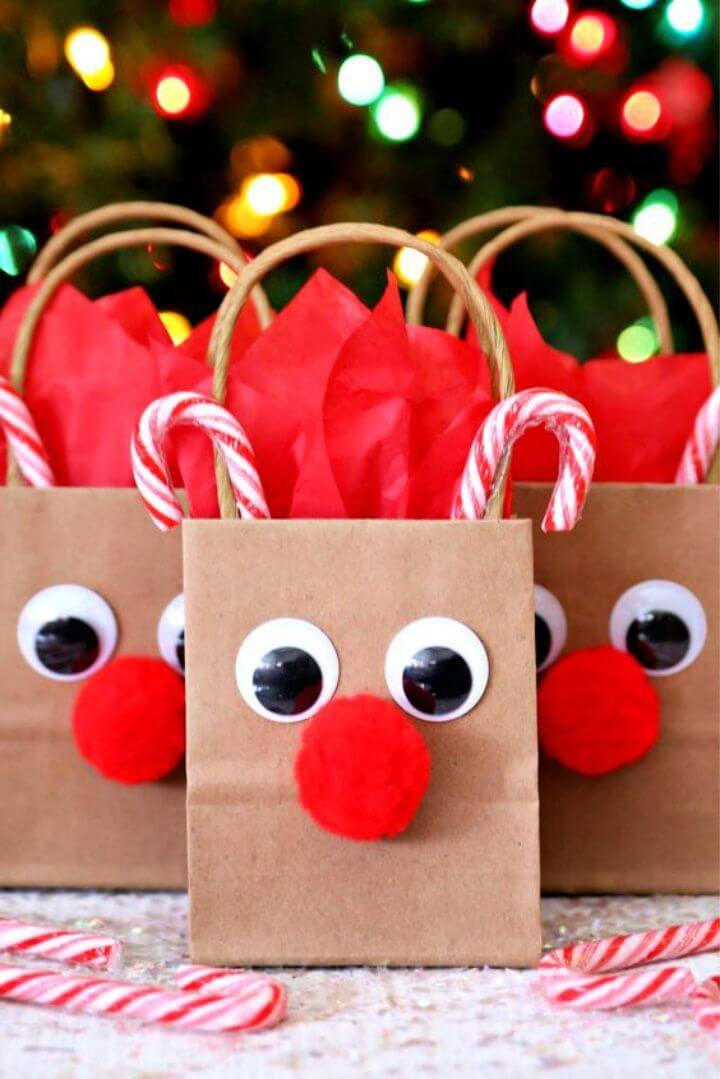 DIY Fun and Easy Reindeer Gift Bags