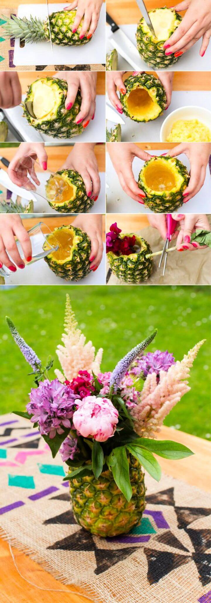 DIY Gorgeous Pineapple Vase For Home Decor