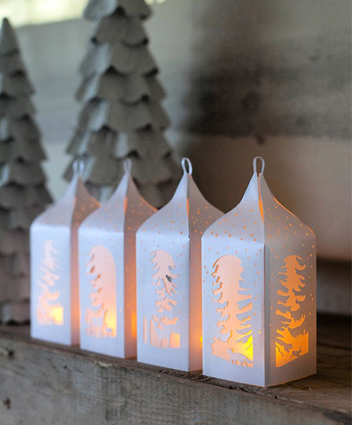 DIY Holiday Winter Paper Lanterns