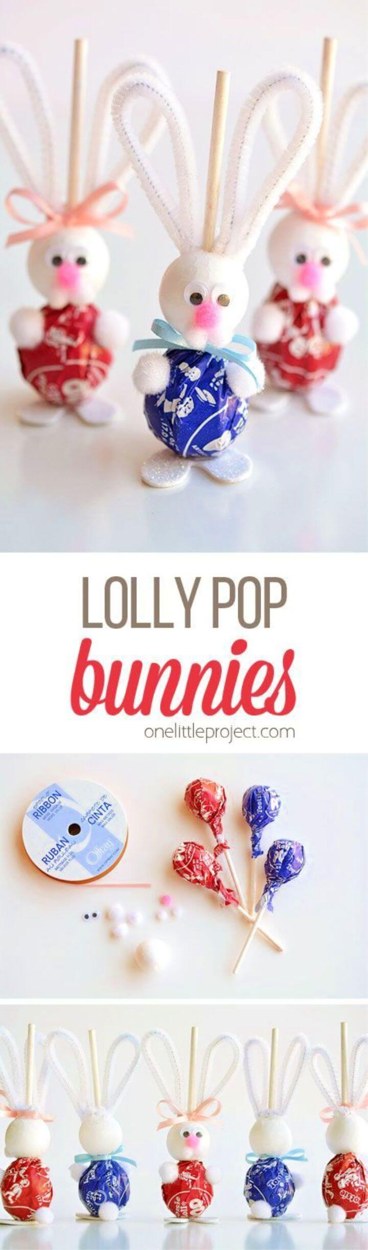 DIY Lolly Pop Bunnies