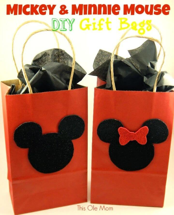 DIY Mickey and Minnie Mouse Gift Bags