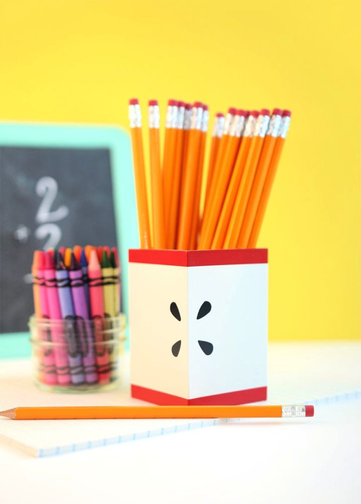 DIY Modern Apple Pencil Holder