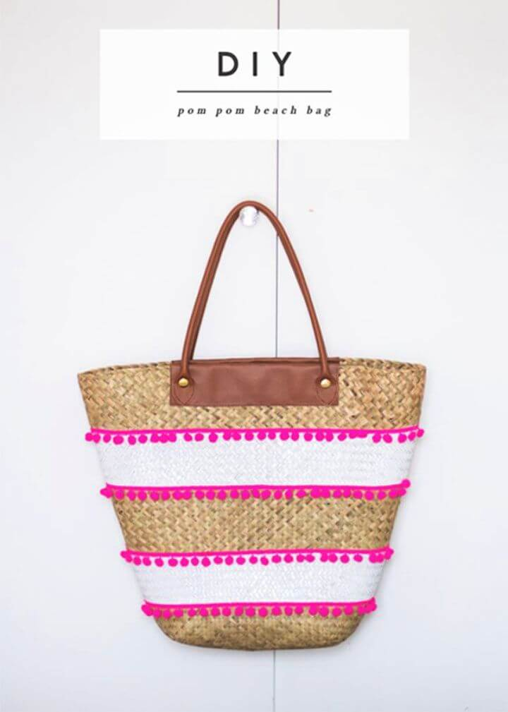 DIY No Sew Beach Tote Bag Tutorial