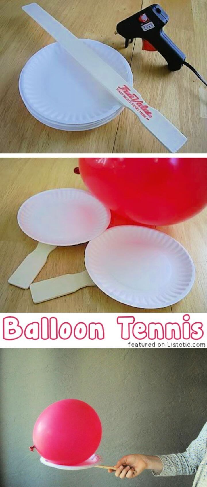 DIY Paddle Balloon Game