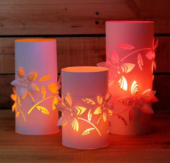 DIY Paper Lanterns with Beautiful 3D Flowers Design 1