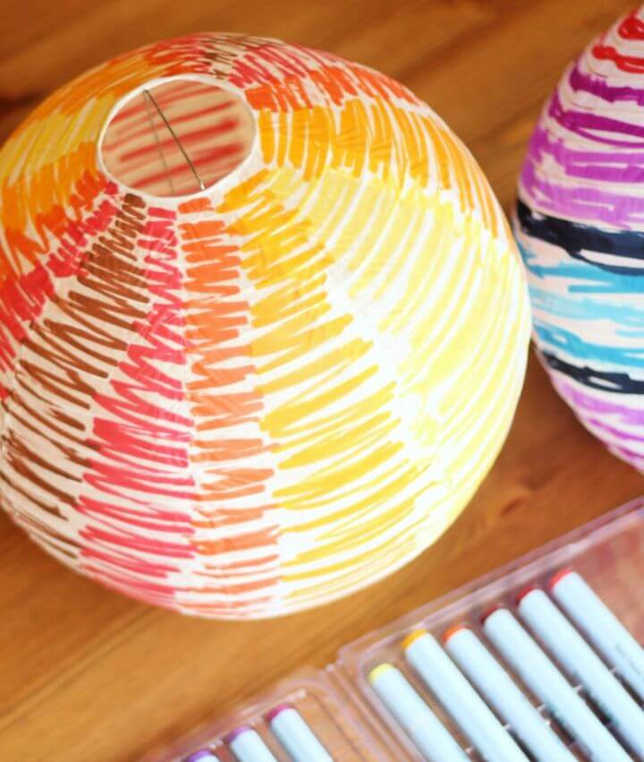DIY Paper Lanterns with Watercolor