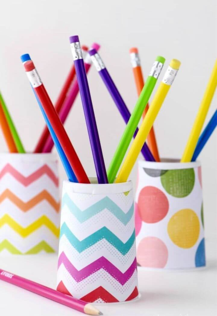 DIY Pencil Holder Easy To Make For Kids