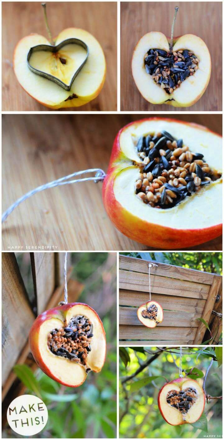 DIY Quick and Easy Apply Heart Bird Feeder