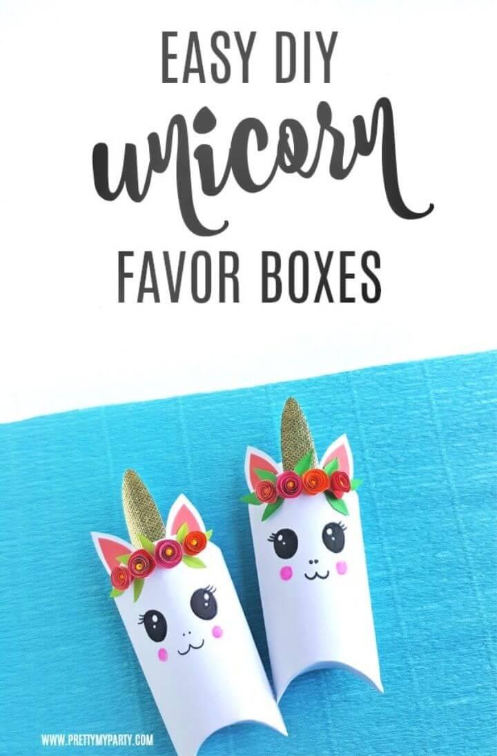 DIY Unicorn Favor Boxes