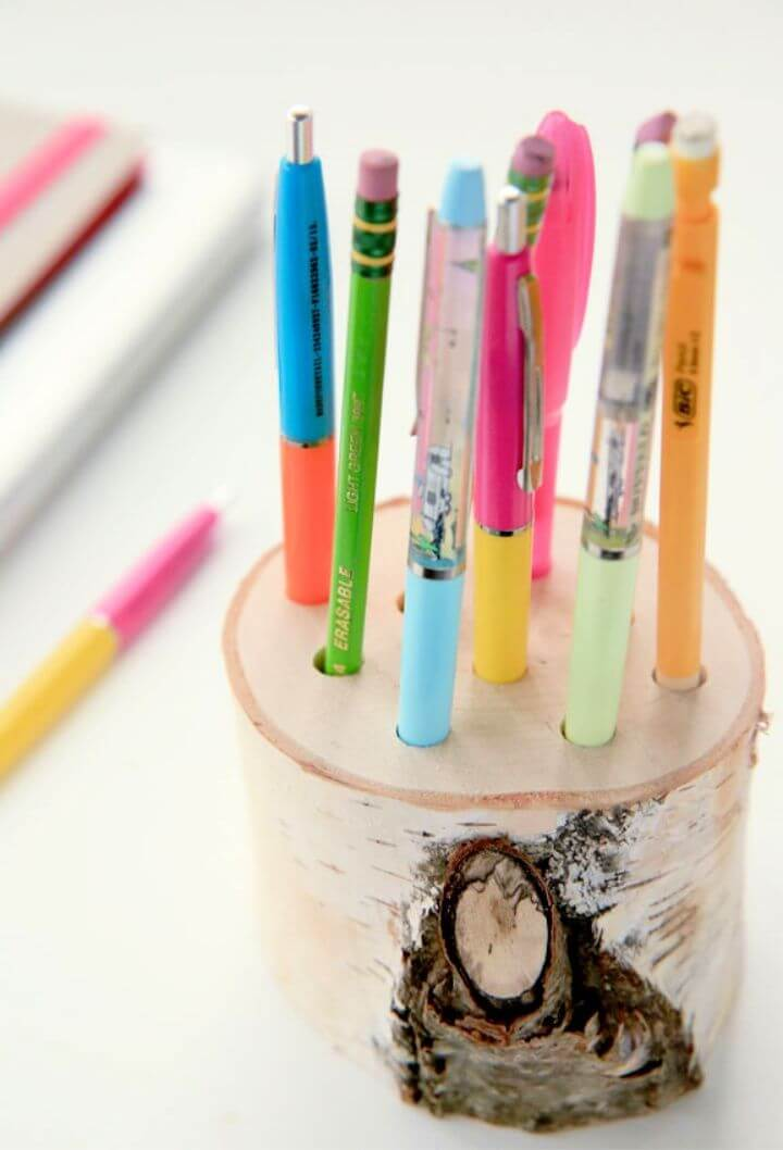 DIY Wooden Pencil Holder Tutorial