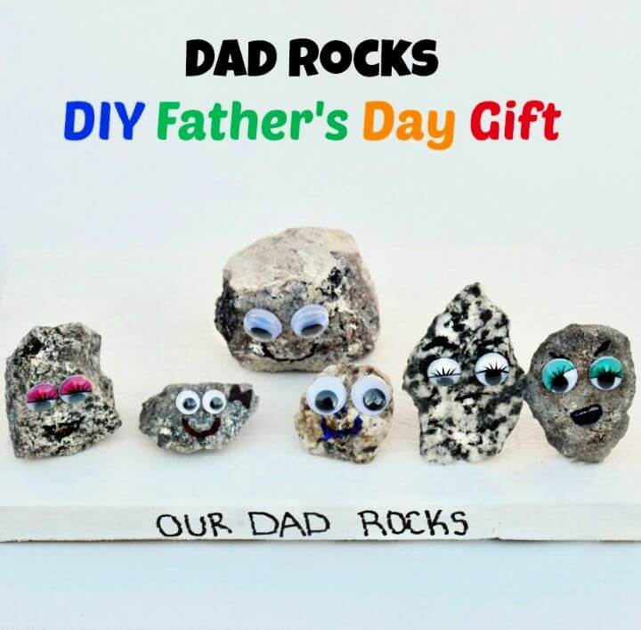 Dad Rocks DIY Fathers Day Gift Amazing Ideas