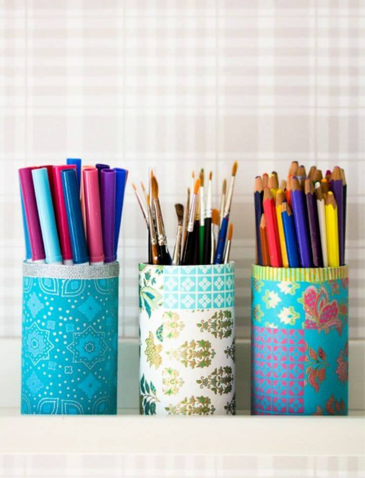 Decorated Pencil Holders