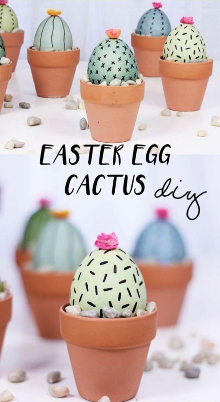 Easter Egg Cactus DIY