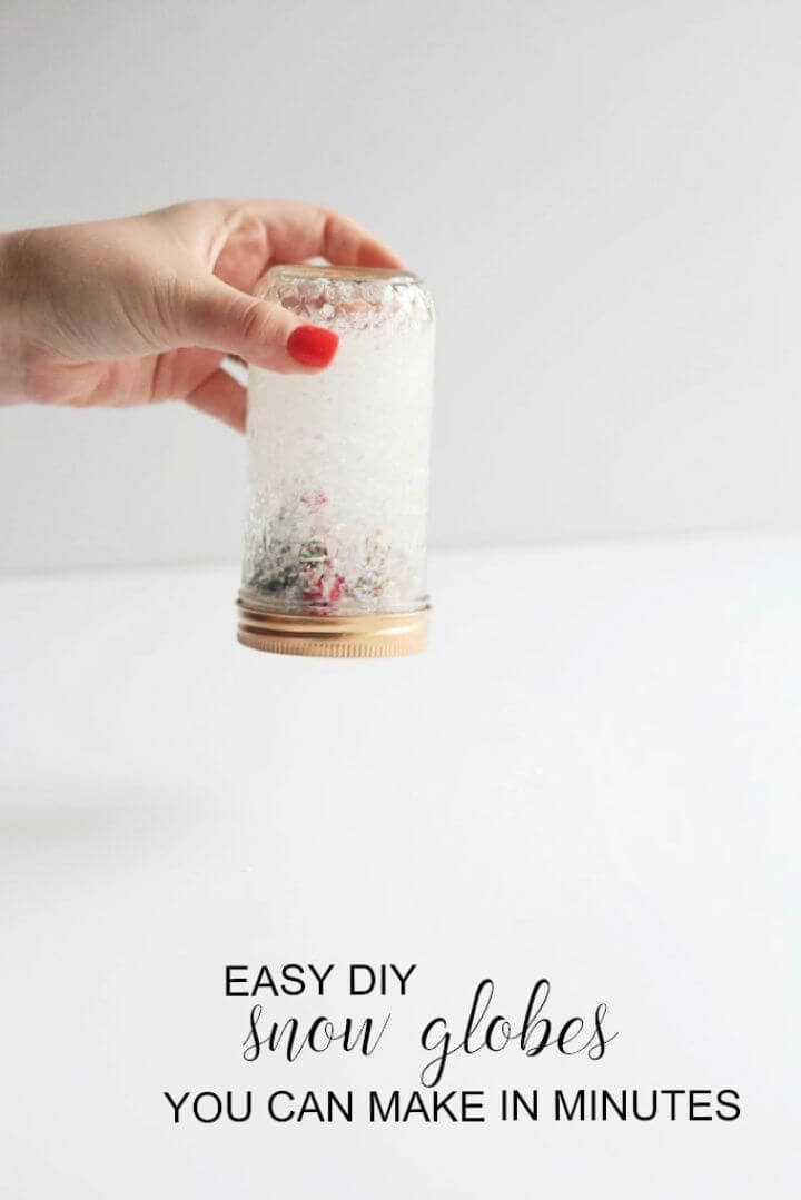 Easy And Simple DIY Snow Globes