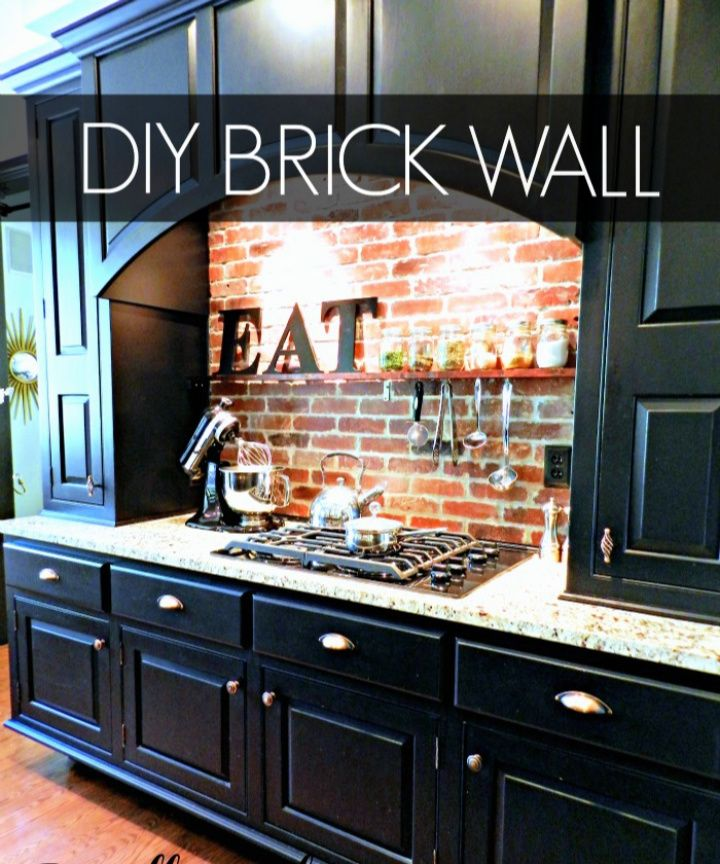 Easy DIY Brick Backsplash Tutorial