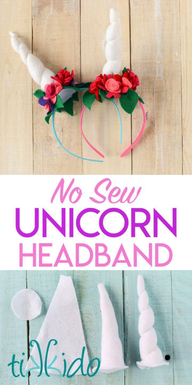 Easy DIY Felt Unicorn Horn Headband Tutorial Free Printable Unicorn Horn Template