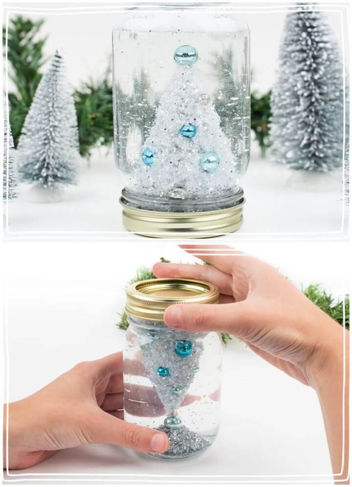Easy DIY Mason Jar Snow Globe Step By Step Tutorial