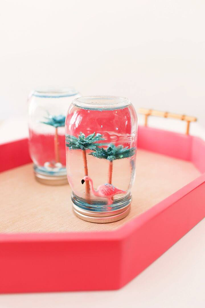 Easy DIY Summer Snow Globes