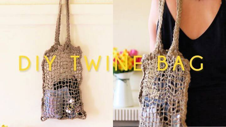 Eyecatching DIY Twine Net Tote Bag