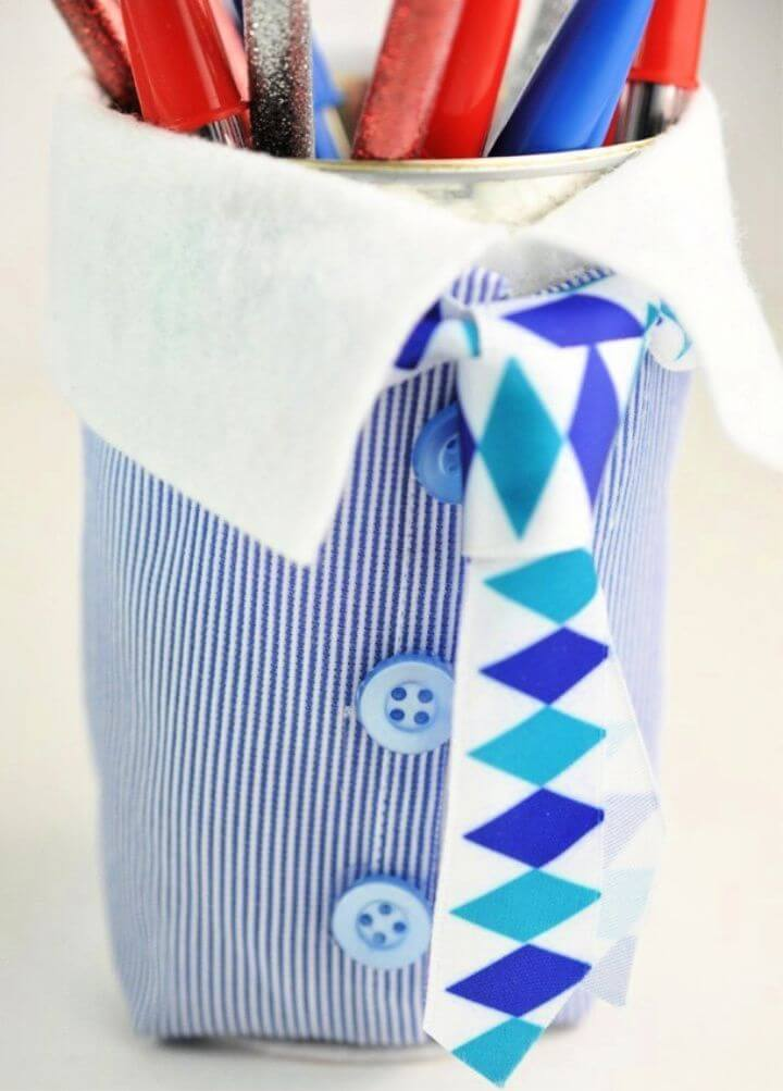 Fatherday Adorable Suit and Tie Pencil Cup Craft Father's Day Gift Tutorial