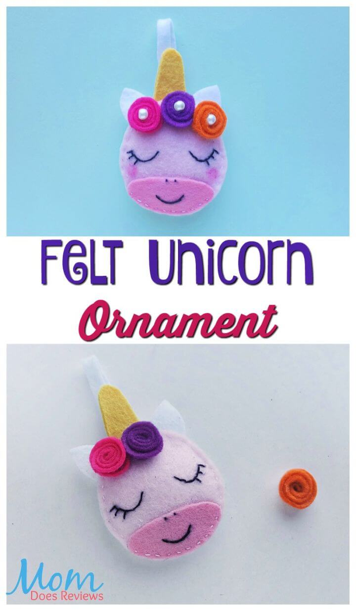 Felt Unicorn Ornament Idea