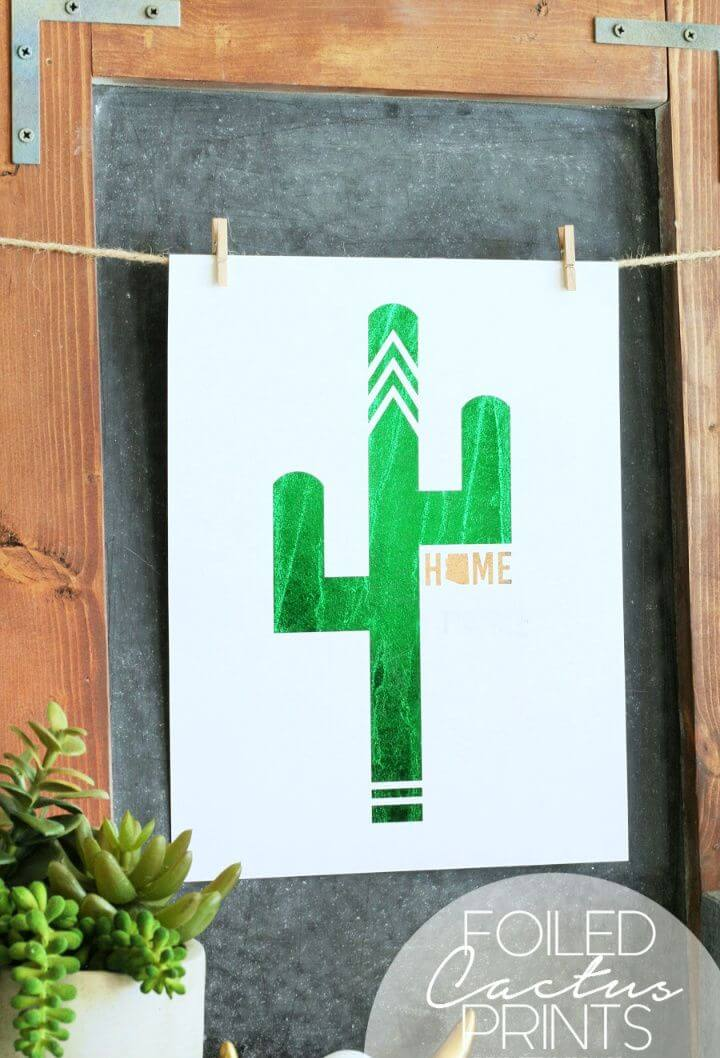 Foiled Cactus Prints with Free Printables