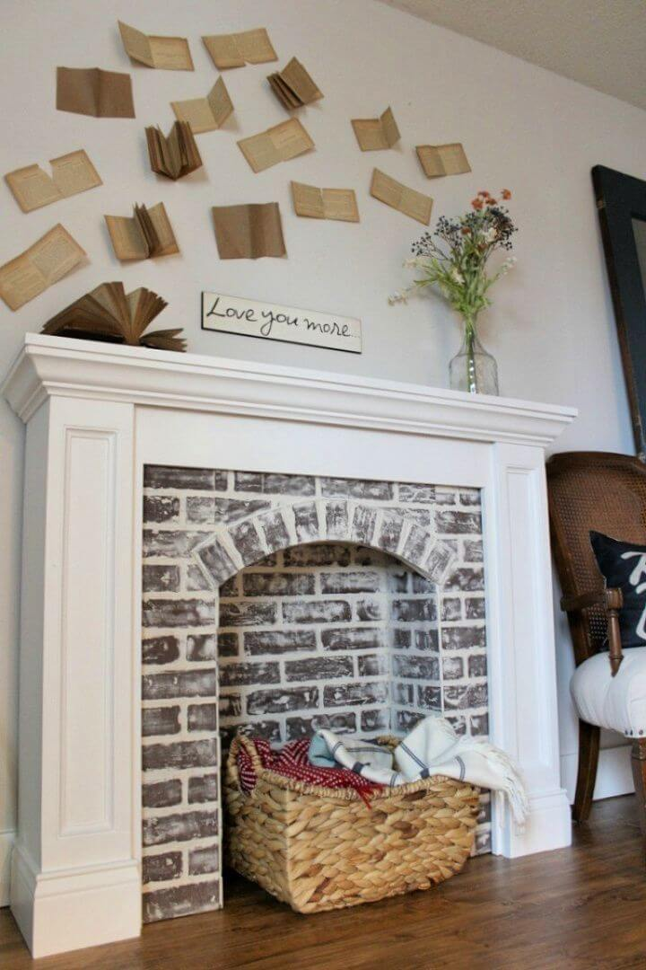How To Create Your Own DIY Fake Brick Fireplace