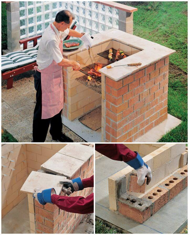 How To DIY Brick Barbeque