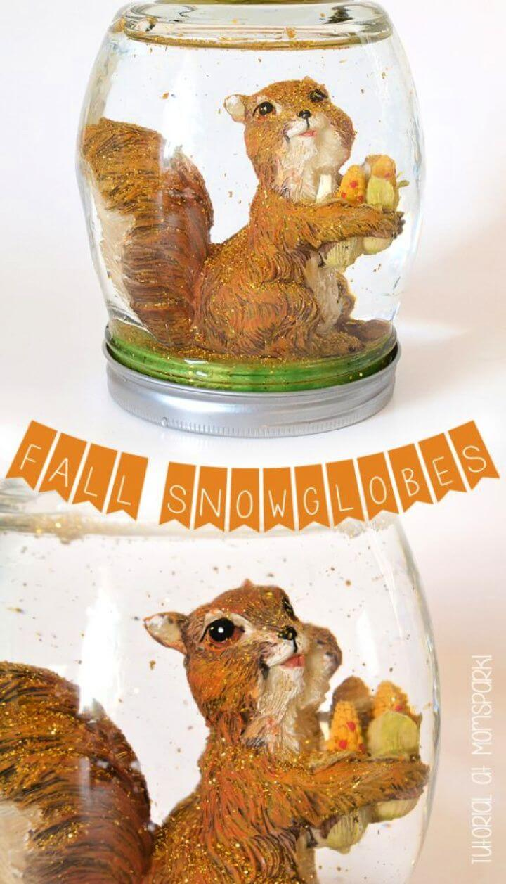 How To DIY Fall Snow Globes