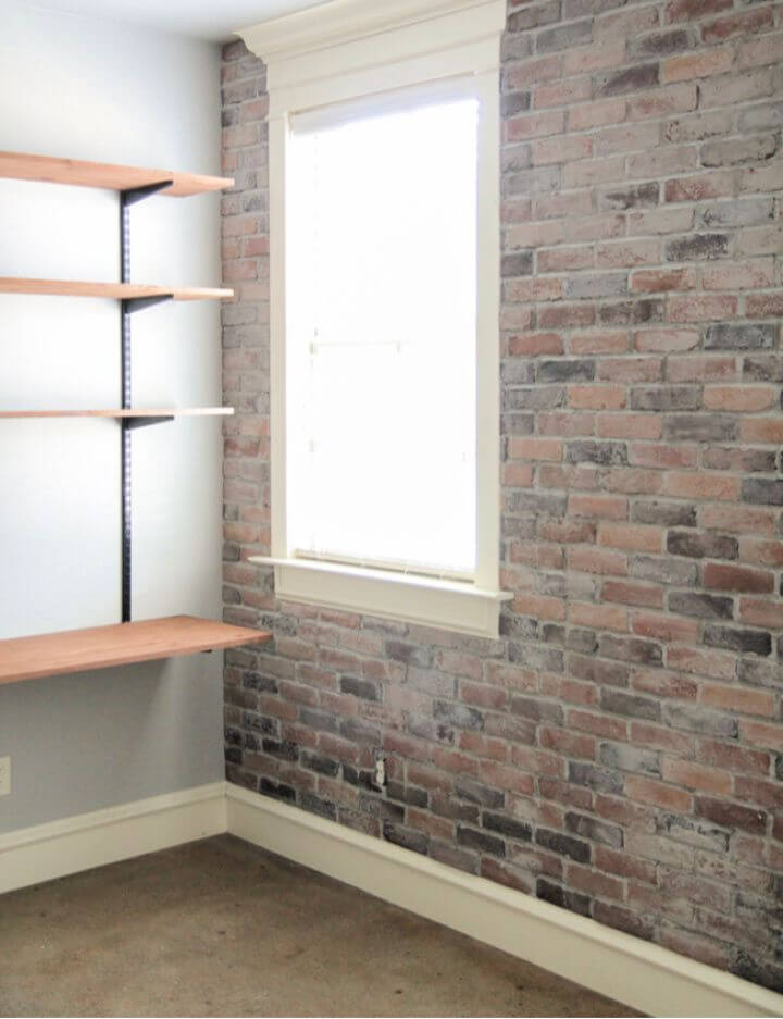 How To DIY Thin Brick Wall Tutorial
