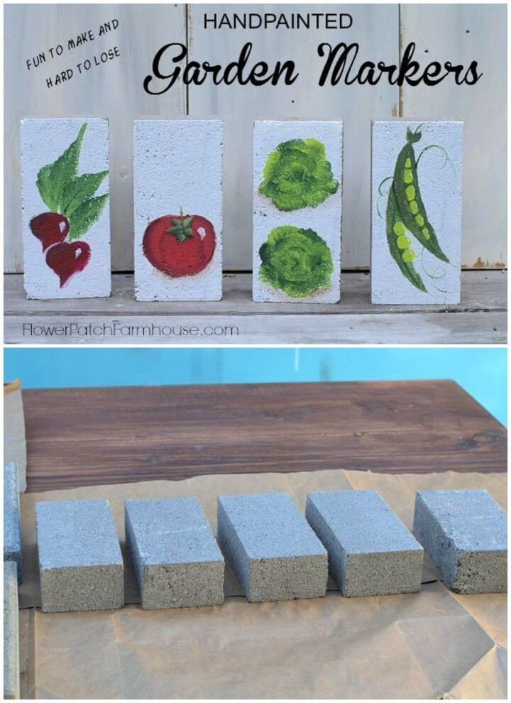 How To Handpainted Garden Markers