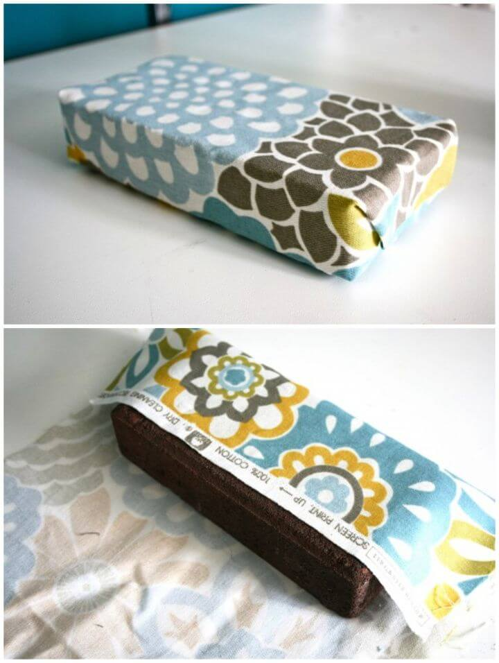 How To Make A DIY Fabric Covered Brick