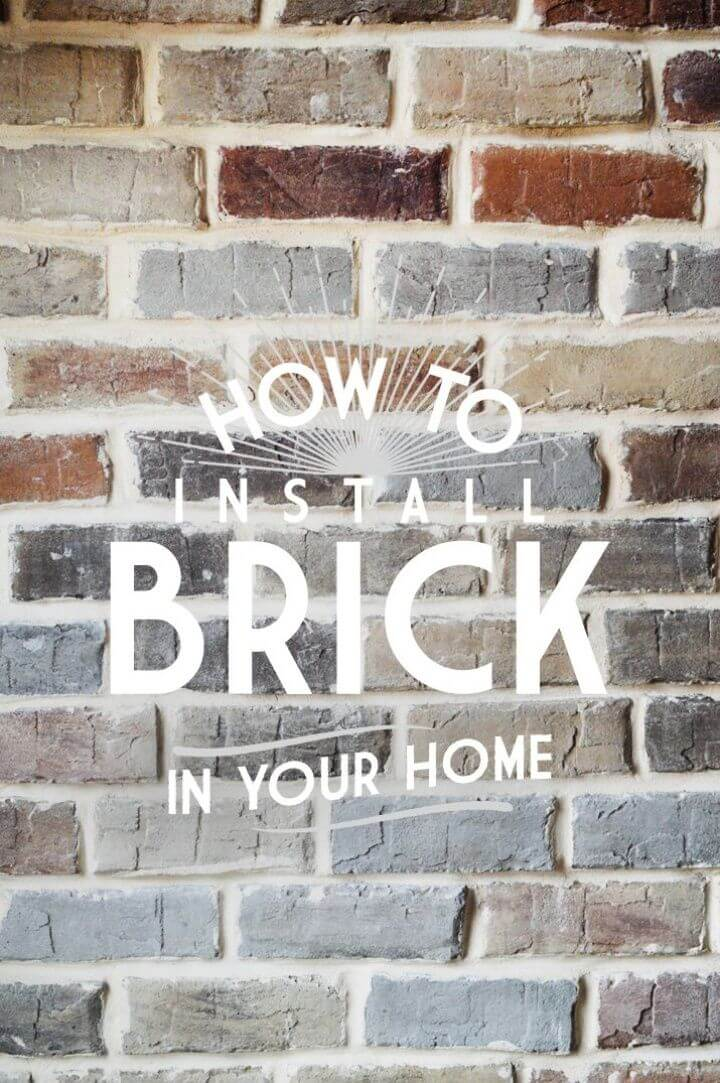 How To Make A DIY Faux Brick Veneer Wall