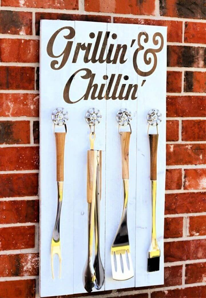 How To Make Fatherday Grill Set Utensil Station