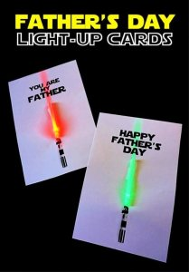 How To Make Light up Lightsaber Father's Day Cards Tutorial