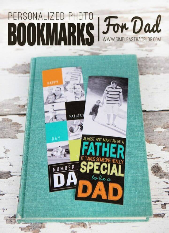 How To Make Personalized Photo Bookmarks for Dad this Father's Day